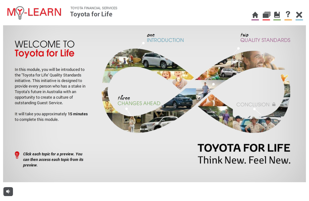 Toyota for Life Intro - homepage